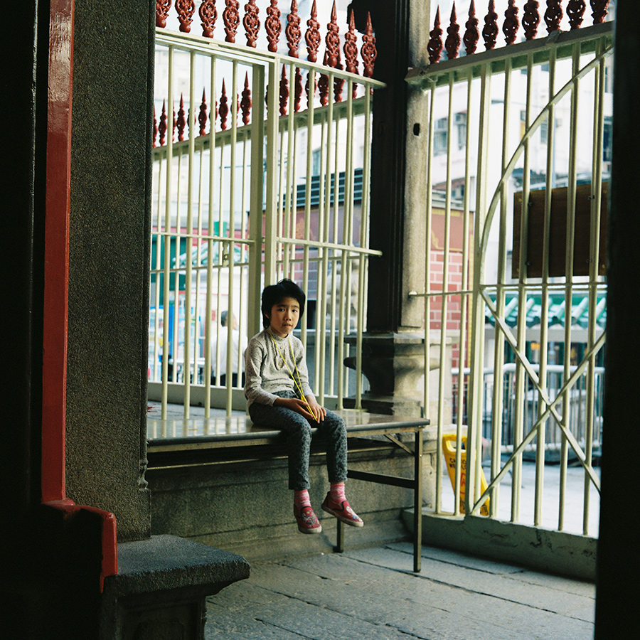 Girl in Man Mo Temple, Sheung Wan, Hong Kong